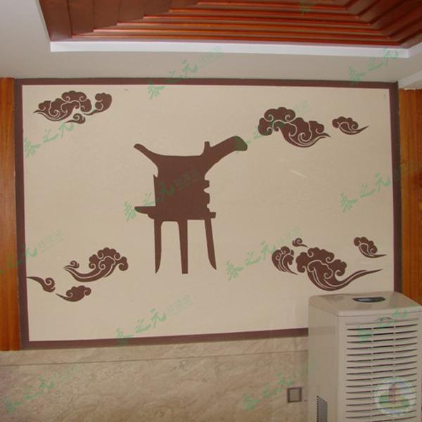 中式硅藻泥,硅藻泥背景墙图片
