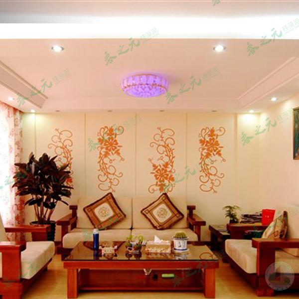 中式硅藻泥,硅藻泥客厅图片