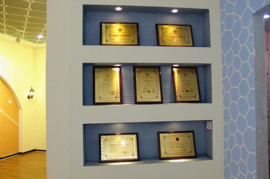 华百安企业荣誉展示墙   学校校史馆荣誉墙展示墙设计装修