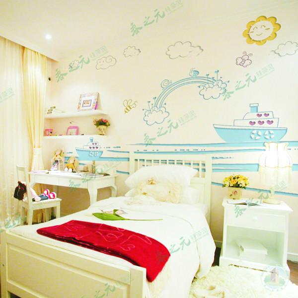儿童卧室硅藻泥贴图