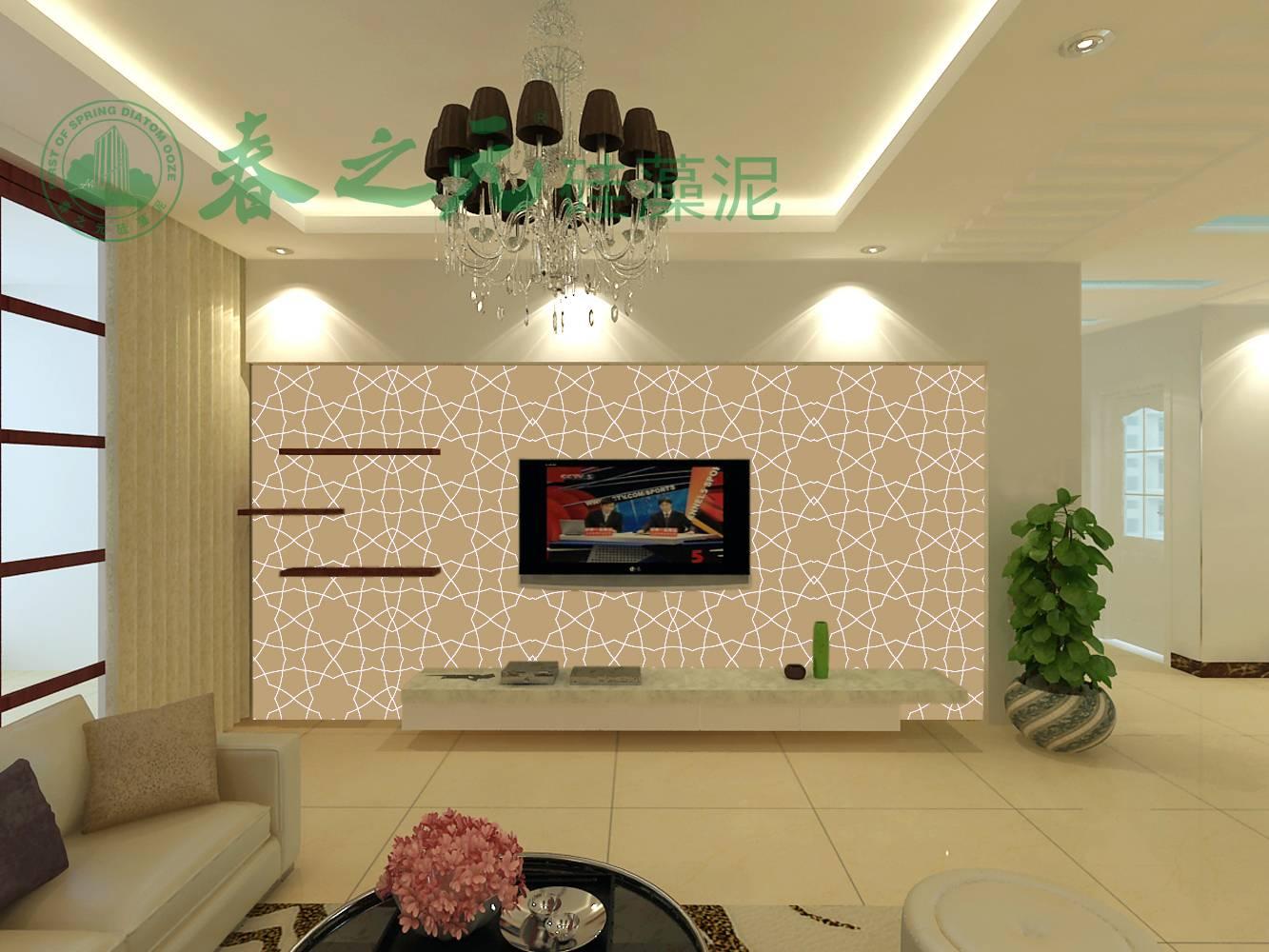 单就硅藻泥电视背景墙一项来说,其起到的家居装饰效果深得广大消费者
