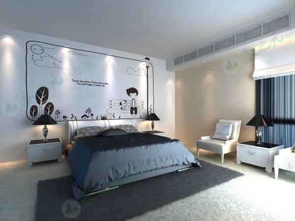 卧室装修硅藻泥