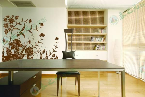 书房装修硅藻泥