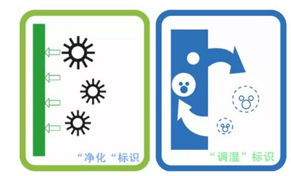 硅藻泥 净化调湿标识