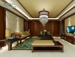 中式客厅-塞漠流云-套色喷涂