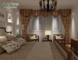 欧式卧室-喷涂