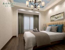 现代卧室-蓝天白云