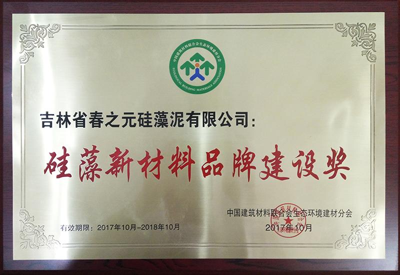 硅藻新材料品牌建设奖