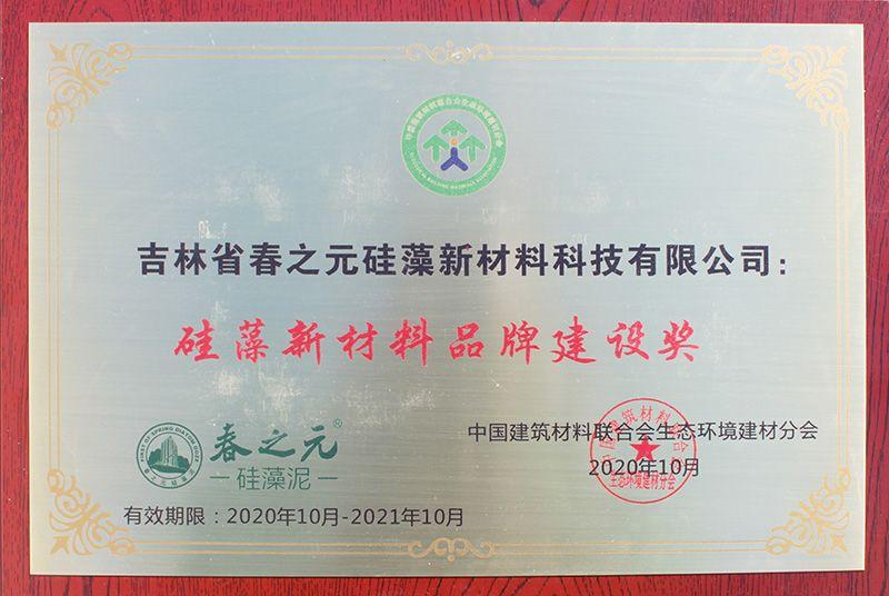 2020年硅藻新材料品牌建设奖